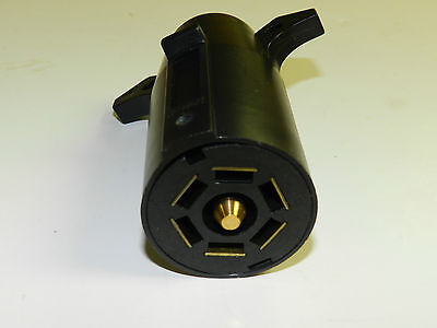 7 way Trailer End Round RV Style Light Plug Connector - FREE SHIPPING