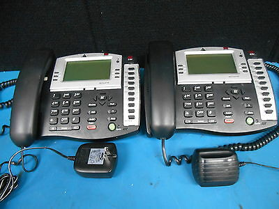 Lot Of 2 Altigen AT510 AltiTouch Office Corded Speaker Phone With AC Power Cords
