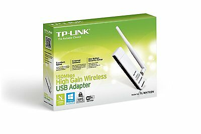 Adaptador Wifi USB TP-LINK TL-WN722N 150Mbps Red Antena Modem Inalambrico