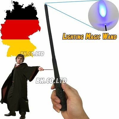 Neu DHL Harry Potter Magic Magisch LED Wand Leuchtzauberstab Neu + free Tattoo