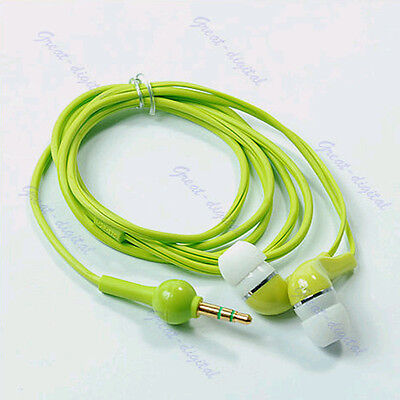 Cool In-Ear 3.5mm Earbud Earphone Headset For iphone MP3 MP4 Player PSP CD Green