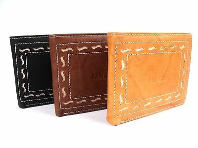 MENS NEW SOFT ITALIAN LEATHER WALLET CREDIT CARD HOLDER COIN POUCH PURSE 910