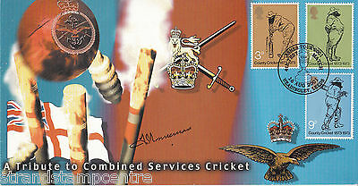 2001 Combined Services Cricket - Signed by the late FRED TRUEMAN