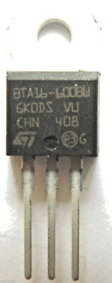 BTA16-600BW  Thyristor TRIAC 600V 168A 3-Pin TO-220AB internally Isolated
