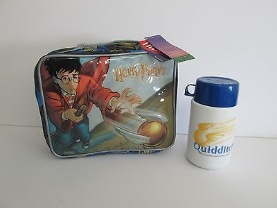 NEW 2001 HARRY POTTER THERMAL INSULATED VINYL LUNCH BOX AND THERMOS BY THERMOS