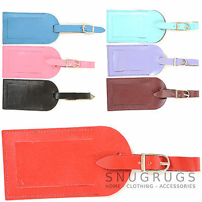 Holiday / Travel Real Leather Luggage / Baggage / Suitcase Id Tag / Label