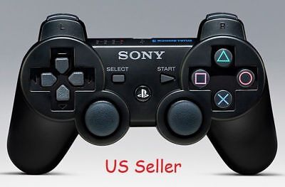 Original Official Genuine Sony PS3 Wireless Dualshock 3 Controller (Black) RB