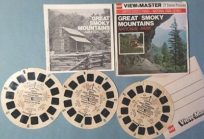 Viewmaster Reel x 3 Great Smoky Mountains National Park TN NC 1977 Set H 74