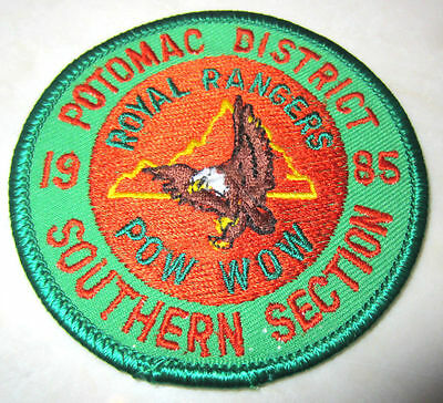 Potomac District Southern Section 1985 Eagle Rr Royal Ranger Uniform Patch