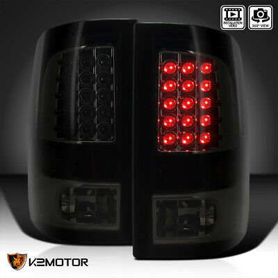 Dark Smoke 09-17 Ram 1500 2500 3500 Glossy Black Brake Lamps LED Tail Lights
