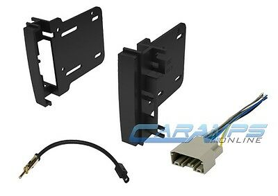 Car Stereo Radio Double 2 Din Cd Player Dash Install Trim Kit W/ Wiring Harness
