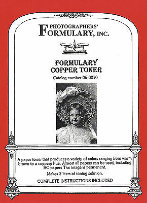 Formulary Copper Toner to make 2 Litres 06-0010