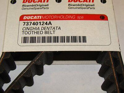 Pair of Genuine Ducati Cam Timing Belts 749 996R 999 998 S4R S4RS  73740124A