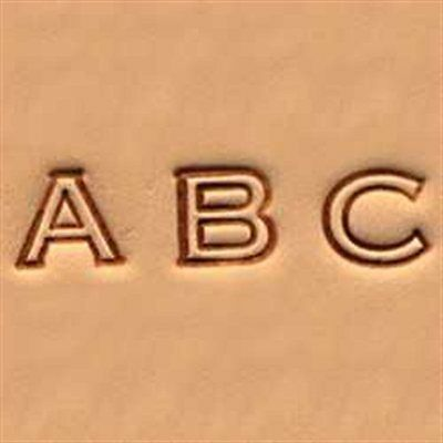 "Craftool Alphabet Stamp Set 1/4"" (0.6 cm) Open Face Item #4909-00 Tandy Leather"