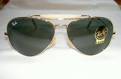 New RAY BAN Sunglasses AVIATOR Gold OUTDOORSMAN II  RB 3029 L2112 G-15 Lens 62mm