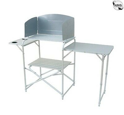 ROYAL Aluminium Camping Kitchen Stand with Windshield - 359976