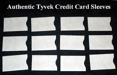 Lot-20 NEW Tyvek Credit Debit ATM ID Gift Card Holder Protector Sleeve Envelopes
