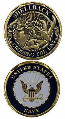 """U.S. Navy / Shellback """"Crossing the Line"""" USN Challenge Coin 3097"""