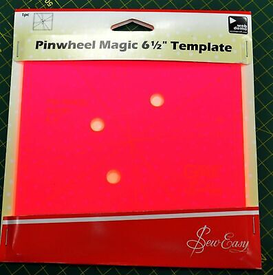 """Pinwheel Magic 6 1/2"""" Template, 3 Different Looks From 1 Template by Sew Easy"""