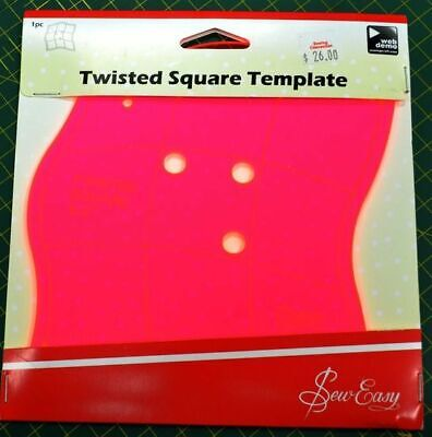 """Sew Easy Twisted Square Template, 6 1/2"""" x 6 1/2"""", Web Demo Available"""