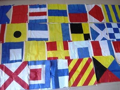 "MARINE NAVY Signal Code FLAG Set -100% COTTON  -Set of Total 26 flag - 15"" X 15"""