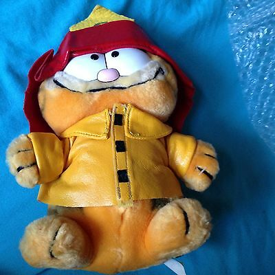 Vintage Garfield - Very Rare Fireman Very Old Very Good Condition For Age!