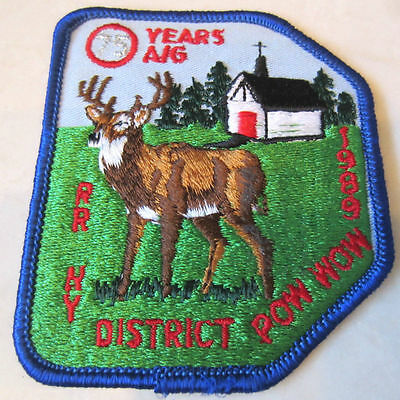 75 Years A/G Ny District Pw Wow 1989  Rr Royal Ranger Uniform Patch