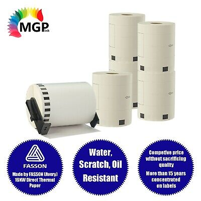 5+1 Rolls Compatible DK-22243 BROTHER Wide Continuous Labels – 102mm X 30.48m
