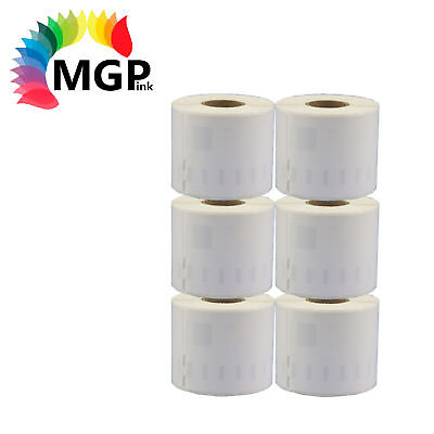 6x Rolls of Premium 99019 label 59mm x 190mm for Dymo labelWriter