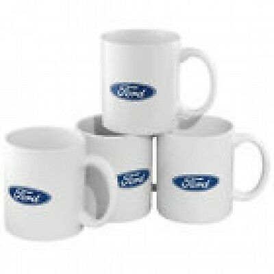Ford Blue Oval Coffee Cup Mug Set of 4 (New)