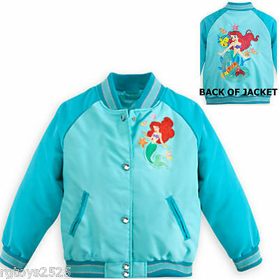 Disney Princesses Varsity Jacket 4 5 6 7 8 9 New Girls Jasmine Belle XS S M Pink