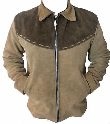 Celebrita X Cowboy Men's Western Leather Jacket Brown with Brown Patch - Sizes