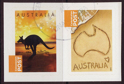 Australia 2014 Concession Stamps Pair Fine Used