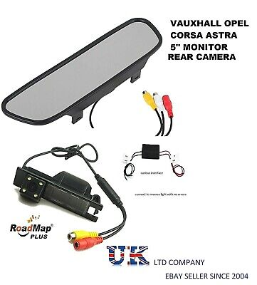 vauxhall corsa astra insignia vectra meriva rear reverse parking camera