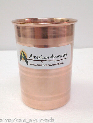 New Pure Copper Cups Copper Glass Water Tumbler for health by American Ayurveda