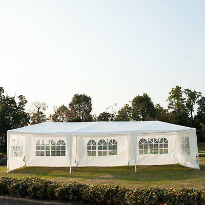 10' x 30' Gazebo Canopy Party Wedding Tent w/ 5 Removable Window Side Walls WT