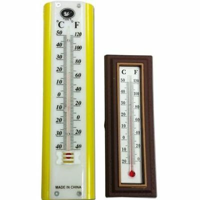 2Pc Thermometer Indoor & Outdoor Wall Hanging Room Temperature Heat New