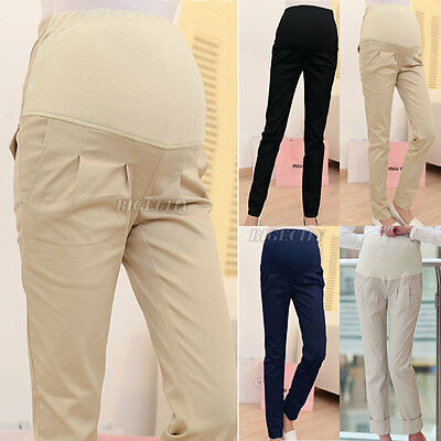 Pregnant Pants Trousers Maternity Pants Elastic Over Bump Supports Pants New