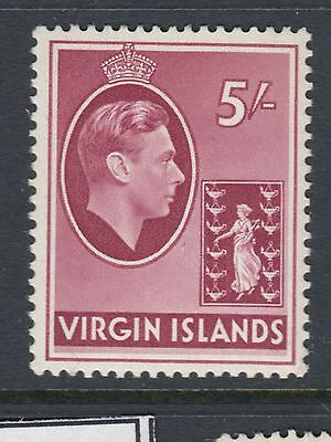 BRITISH VIRGIN ISLANDS :1938 5/- carmine on chalky paper SG 119 mint