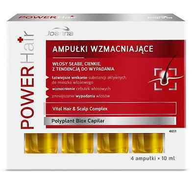 JOANNA power hair strengthening ampoules weak thin hair loss reduction 4x10ml