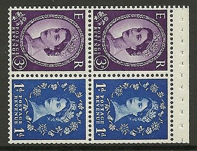 SB38 Wilding booklet pane Sideways Right perf type AP UNMOUNTED MNT/MNH