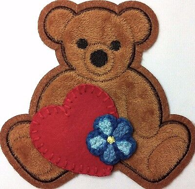 Kaylee Bear Patch, Flower & Heart Patch SET Perfect for Firefly Serenity Cosplay