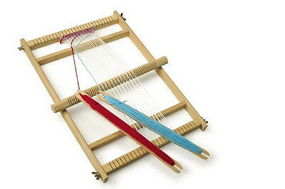 Large Toy Deluxe Take Apart  Wooden Weaving Loom Craftwork Shuttles Girls Gift