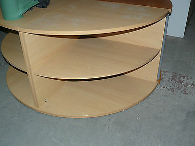 Desk High Corner Storage in Beech