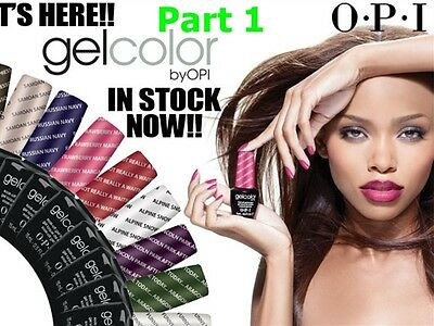 OPI GelColor UV/LED Soak off Gel Polish Base Top Coat - PART 1