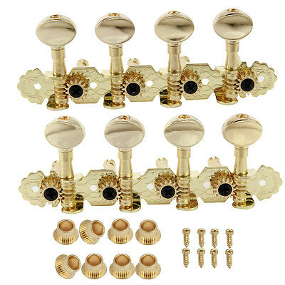 Set Mandolin Machine Heads Tuning Pegs 1R1L GOLD Metal Button