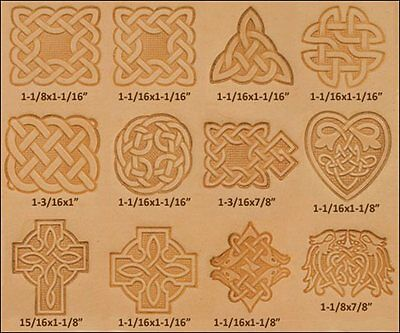 Craftool Celtic 3-D Stamp Set 13 Piece  Tandy Leather 8161-00 Free Priority Ship