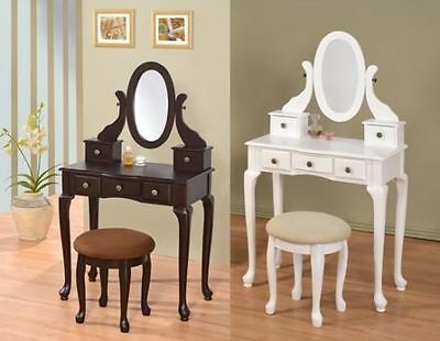 Contemporary Vanity Set with Adjustable Mirror and Zebra Print Stool for teens