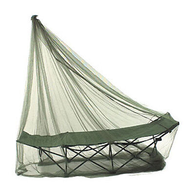 Highlander Camping Trekker Mosquito Net Insect Repellent Bushcraft + Pouch Olive