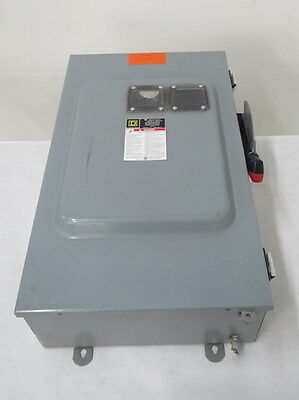 SQUARE D H364AWK 200A AMP 600V-AC 3P FUSIBLE DISCONNECT SWITCH B487942
